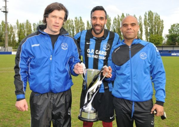 Carl Jason and Ricky Small winning the Anagram Trophy