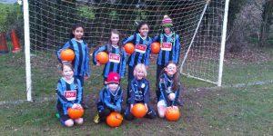 Girls Saturday Soccer School had a friendly