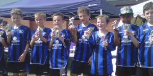 Eagles Blues u9s completing a hat trick of tournament wins