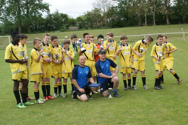 victorious team with Joint Managers, Steve Houghton and Tom Hennessey